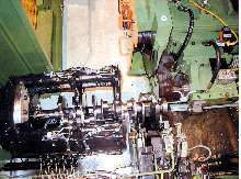 Thrust Wall/Pilot Bore Grinder suits crankshaft manufacturing.