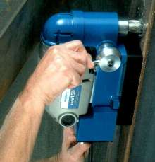 Magnetic Drill operates in confined spaces.