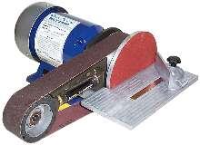 Bench Grinder performs sanding and polishing tasks.