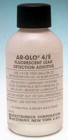 Fluorescent Leak Detection Dye works with all refrigerants.
