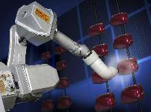 Robot is suited for spray coating applications.