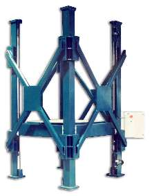 Lift aids in transformer coil maintenance.