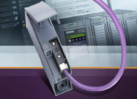 Communication Module adds Profibus connection to PLC.