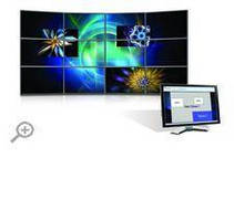 Video Wall Management Software aids display setup, organization.