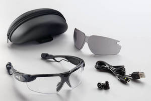 Stereo Bluetooth Eyewear increases safety at jobsite.