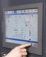 Touchscreen GUI enhances laser cutting system operation.