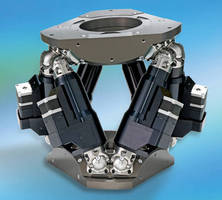 Six-Axis Parallel Kinematic Positioning System supports 450 kg.