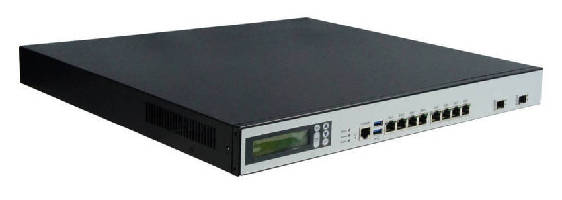 Network Appliance features 8 high-speed Gigabit LANs.