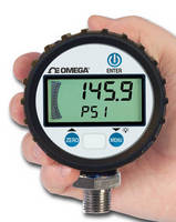 Digital Pressure Gauge features stainless steel wetted parts.