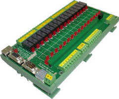 Industrial Relay Controller supports voltages up to 250 Vac.