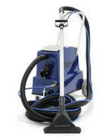 Mobile Steam Cleaner maintains carpeted sufaces in motels.