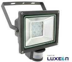 IP54, 1.4 kg LED Floodlight incorporates PIR motion sensor.