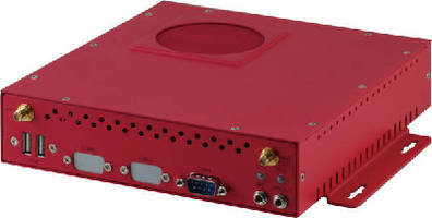 Embedded Box PC supports industrial automation applications.