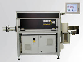 Label Vision Inspection System works on cylindrical containers.