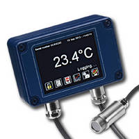Miniature IR Temperature Sensor offers adjustable emissivity.