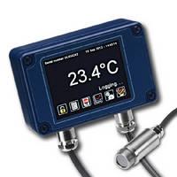 Miniature IR Temperature Sensor offers adjustable emissivity.
