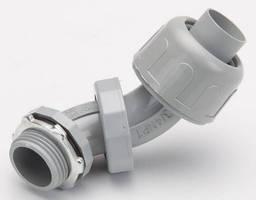 Liquid-Tight, 0°-90° Connectors have non-metalic design.
