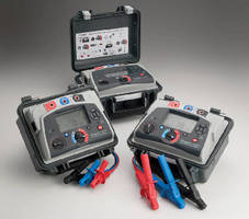 Insulation Resistance Testers feature 5 kV and 10 kV ratings.