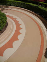Colored Quartz Aggregate Flooring supports traffic in 2 days.
