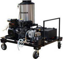 Steam Pressure Washer cleans and maintains parking lots.