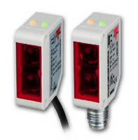 Miniature Photoelectric Sensors offer sensing range up to 15 m.
