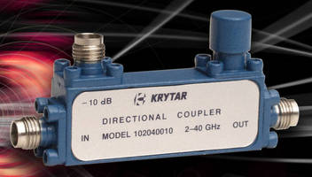 Directional Couplers cover 2.0 to 40 GHz frequency band.