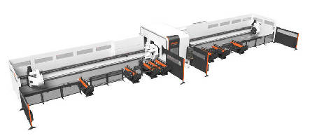 Laser Cutting System handles variety of tubes and pipes.