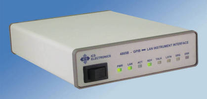 GPIB to LAN Interface works with range of instruments.