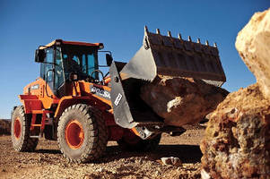 Wheel Loader features 3.7 cubic-yard capacity.