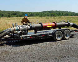 Static Mixer  targets mobile gas well fracking rigs.