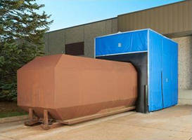 Compactor Enclosure features modular industrial fabric design.