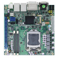 Mini-ITX Motherboard  features Intel Q77 Express chipset.