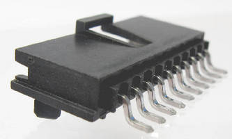 Male SMT Connectors  include latch and PCB pegs.