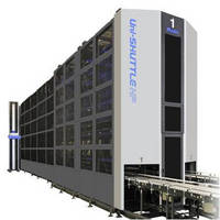 Automated Storage and Retrieval System handles 3,000 cases/hr.
