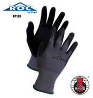 Work Gloves feature flexible nitrile coating for dexterity.