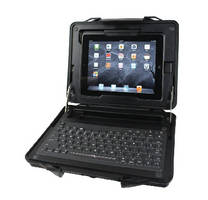 Protective Case adds keyboard to Apple iPad.
