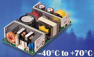 AC/DC Power Supplies (100 W) achieve start-up down to -40°C.