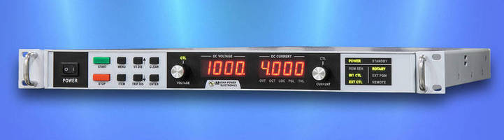 Programmable DC Power Supply offers application versatility.