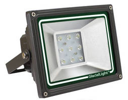 Lightweight LED Flood Light adapts to 12 or 24 Vdc input.
