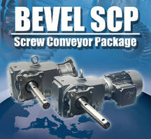 Screw Conveyors feature helical-bevel gears.