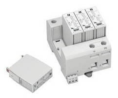 Modular AC Surge Protectors shield mains power supplies.