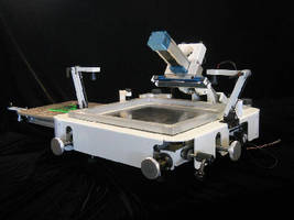 SMT Printer features boom style dual squeegee head.