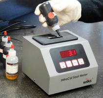 Portable IR Analyzer measures soot percent in diesel engines oil.