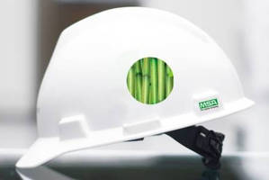 Industrial Hard Hat is made from sugarcane-sourced HDPE.