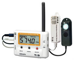 Wireless Logger monitors illuminance, UV, temperature, humidity.