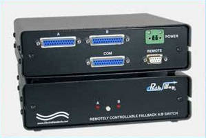 Single-Channel A/B Switch provides automatic backup.