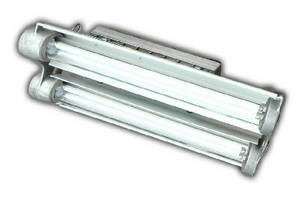 Explosion Proof Fluorescent Light features 4 lamps.