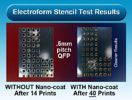Stencil Coating minimizes spread of solder paste.
