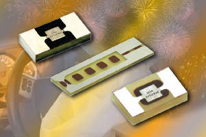 Ignitor Chip Resistor features firing energy down to 1.5 mJ.