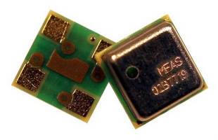 Digital Barometric Pressure Sensor measures 3 x 3 x 0.9 mm.
